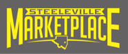 A theme footer logo of Steeleville Marketplace